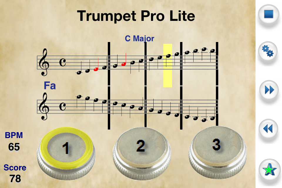 Trumpet Pro Home Screen